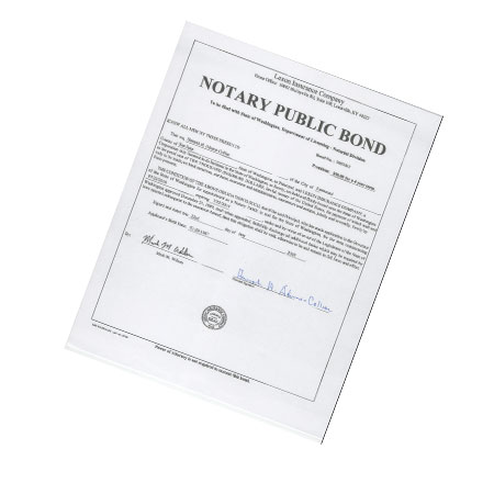 Arizona Notary Bond Only 5,000.00