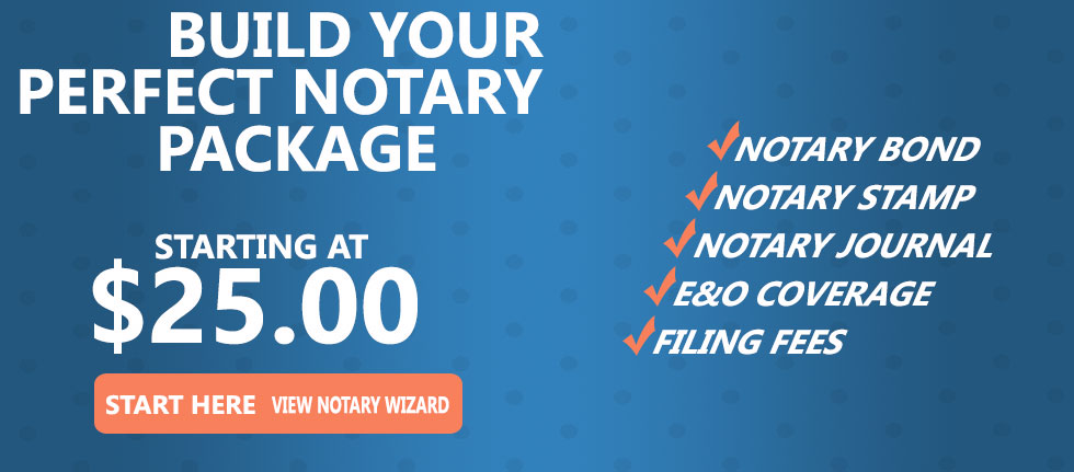 Build your perfect Arizona Notary Bond Package using our new Notary Public Wizard - Become a Notary Public fast